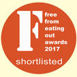 Shortlisted for the Free from eating out awards