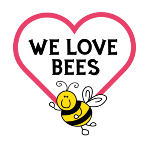 We love bees at honeybuns logo