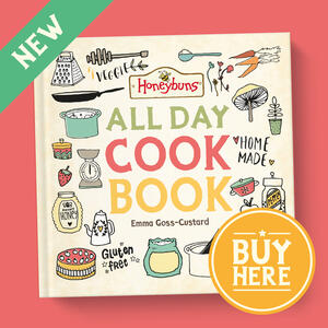 Buy Honeybuns new free from recipe book our online shop