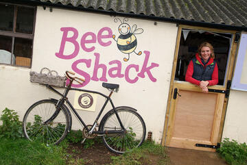 Bee shack in the early days