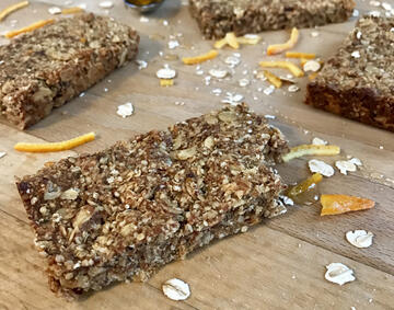 Vegan and gluten free date and orange flapjacks