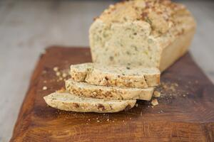 Easy gluten free no yeast seeded loaf bread recipe