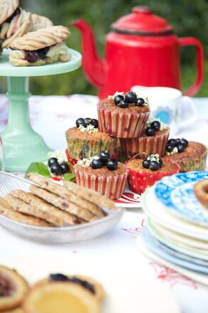 Gluten free afternoon tea recipe for fruity cake muffins