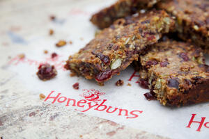 Gluten free Fruity Nut Bar Florentine