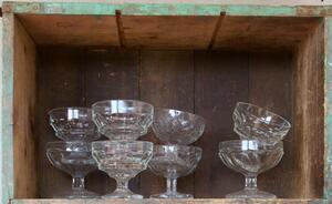 Vintage glass trifle dishes