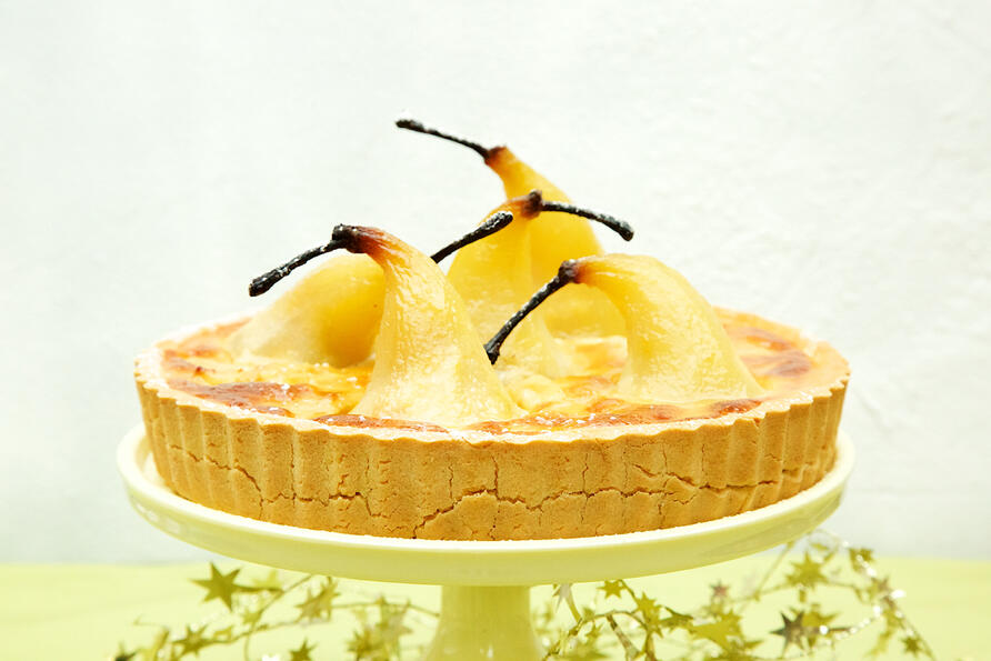 Gluten and dairy free pear tart
