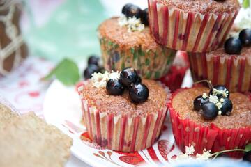 Gluten free and nut free afternoon tea cupcakes filled with fruit