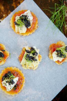Gluten free cornbread mix party food canapes recipe