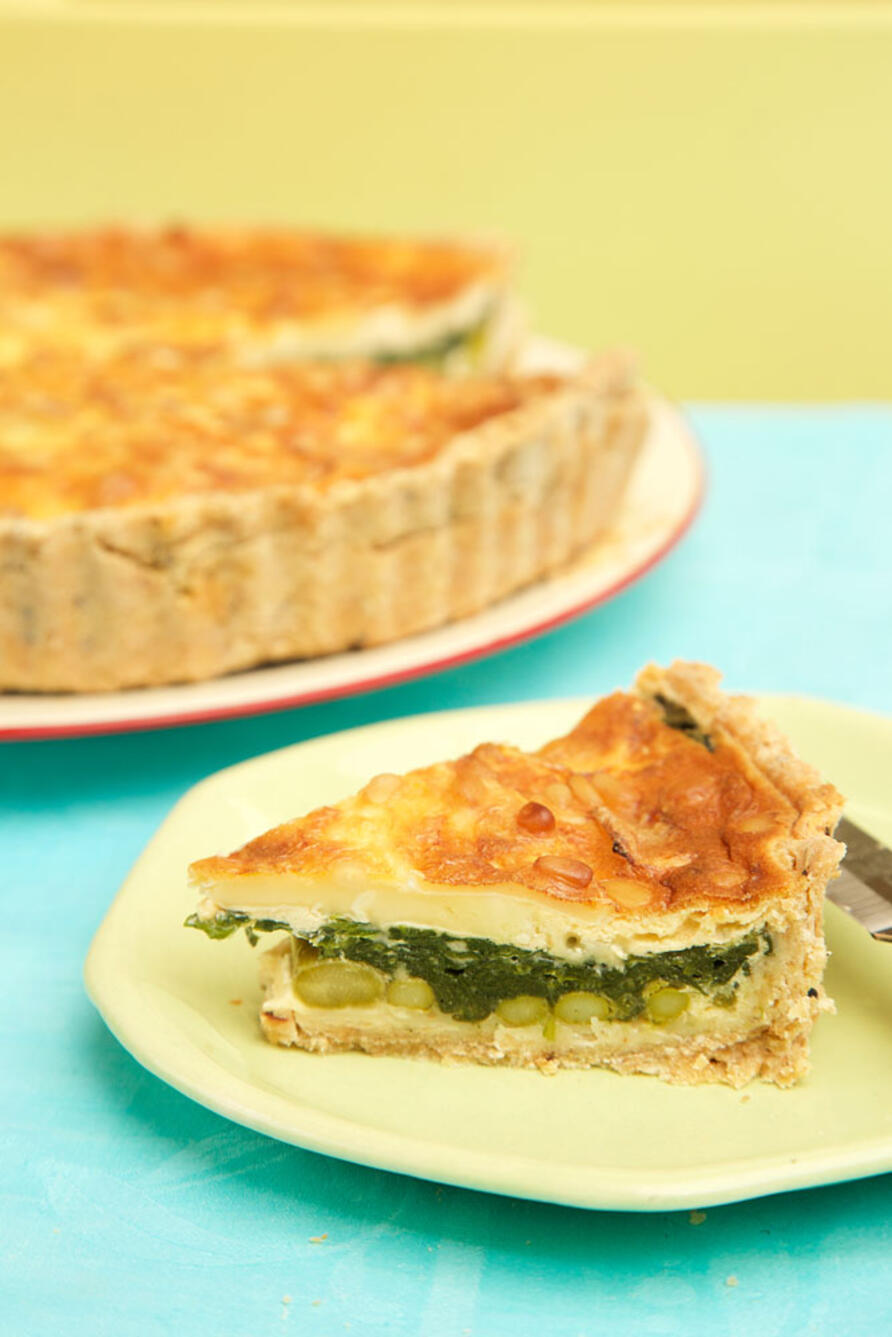 Slice of early summer quiche