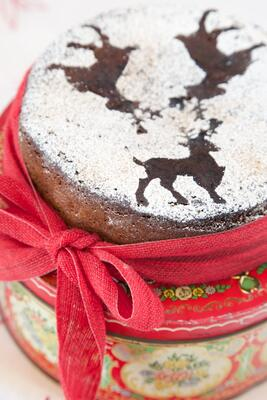 Gluten free chocolate Christmas cake