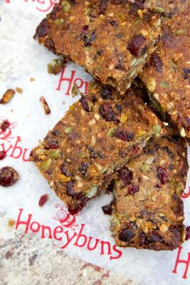 Gluten free dairy free Honeybuns Fruity Nut Bar