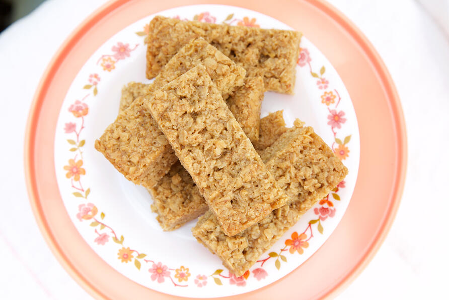 gluten free plain flapjack in new smaller size