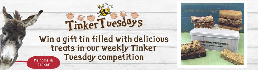 win gluten free cakes tinker prize in our weekly tuesday competition