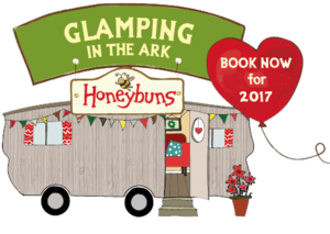 Honeybuns glamping in the Ark book now for 2017 logo