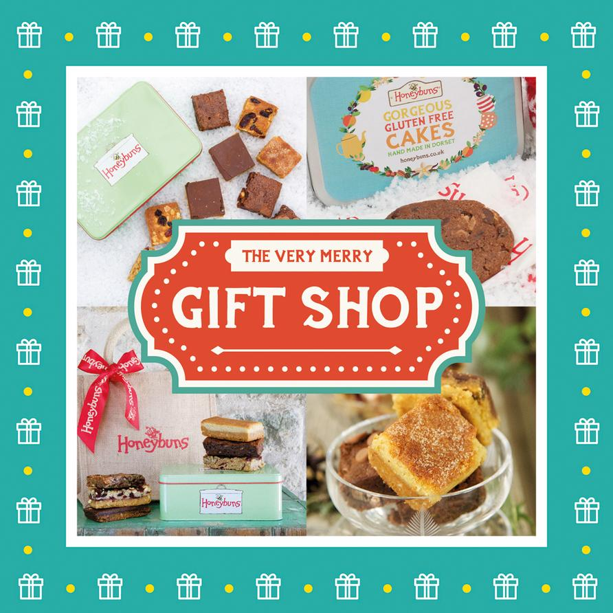 The Honeybuns online shop is full to bursting with Christmas gift ideas, including gluten free cakes, stocking fillers and presents to spoil them with!