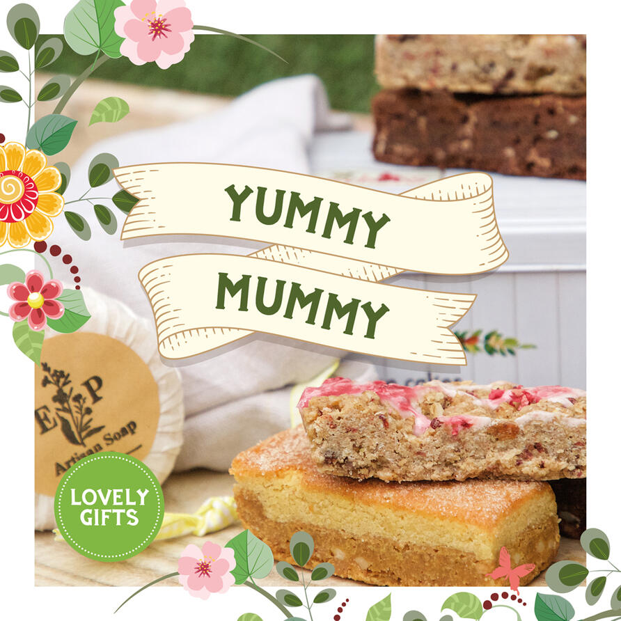 Gorgeous Mother's Day gifts and cakes by mail order for UK delivery