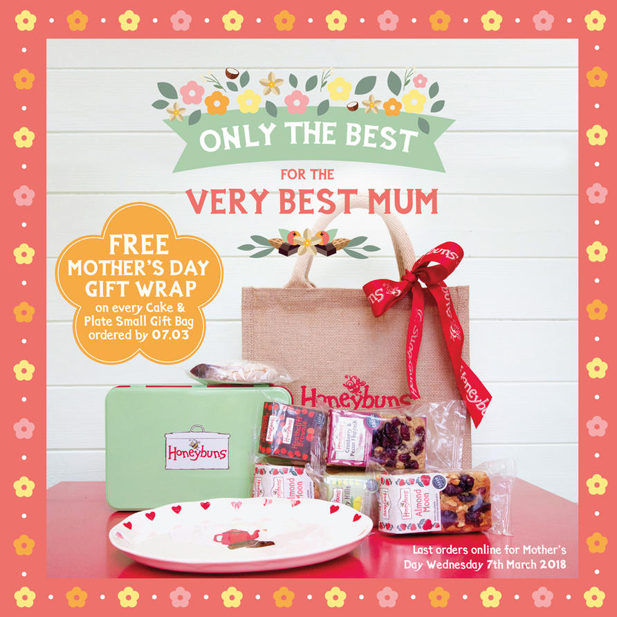 Treat your lovely mum on mother's Day with our charming free from cake gifts delivered to anywhere in the UK