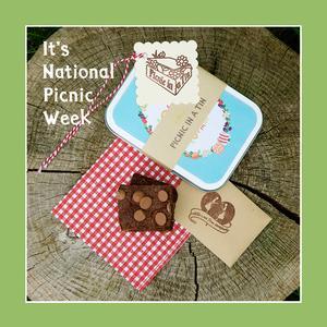 Gorgeous gluten free gifts including this little picnic tin to celebrate National Picnic Week, delivered straight to your chosen address in the UK.