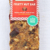 Honeybuns gluten free and dairy free Fruity Nut Bar cake slice