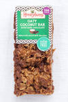 Gluten free, dairy free and vegan slow baked oaty flapjack with dark chocolate