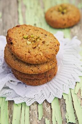 Gluten free Almond and Salted Pistachio Cookie