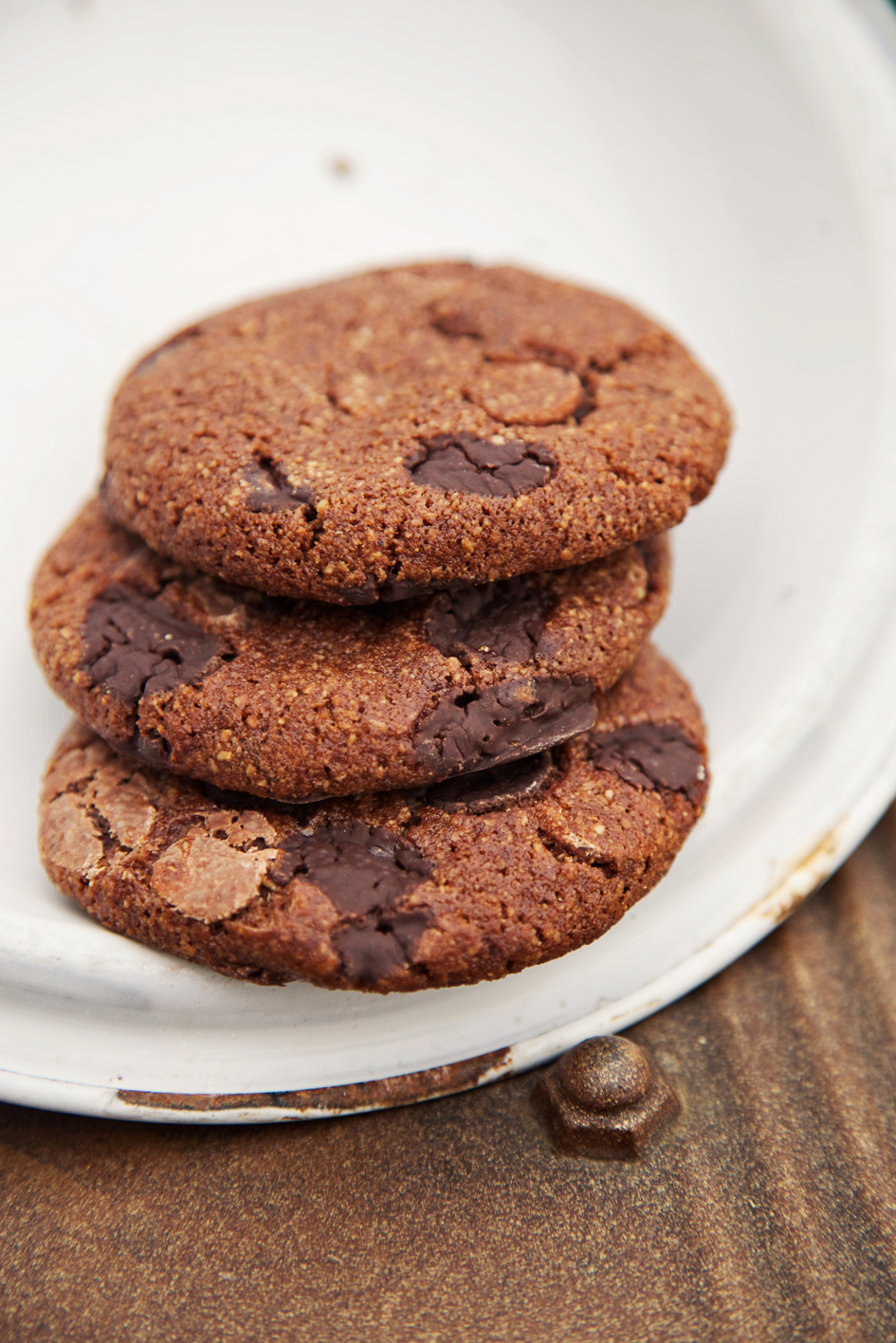 Gluten free Triple Chocolate Tinker Cookie unwrapped