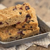Gluten free Fruit Flapjack unwrapped