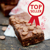 Gluten free Milk Chocolate Brownie unwrapped