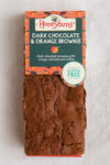 gluten free Dark chocolate & orange brownie cake slice