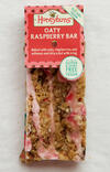 Vegan friendly and gluten free Oaty Raspberry Bar cake comes in traybake and individually wrapped slice formats.