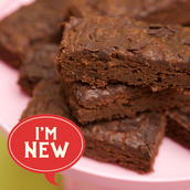 Gluten free and vegan fudgey Dark Chocolate Brownie cake and traybake