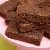 Gluten free and vegan Dark Chocolate Brownie