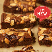 Gluten free and vegan Peanut butter & Jelly Brownie
