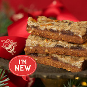 Mincemeat Crumble Bar cake slices on festive plate