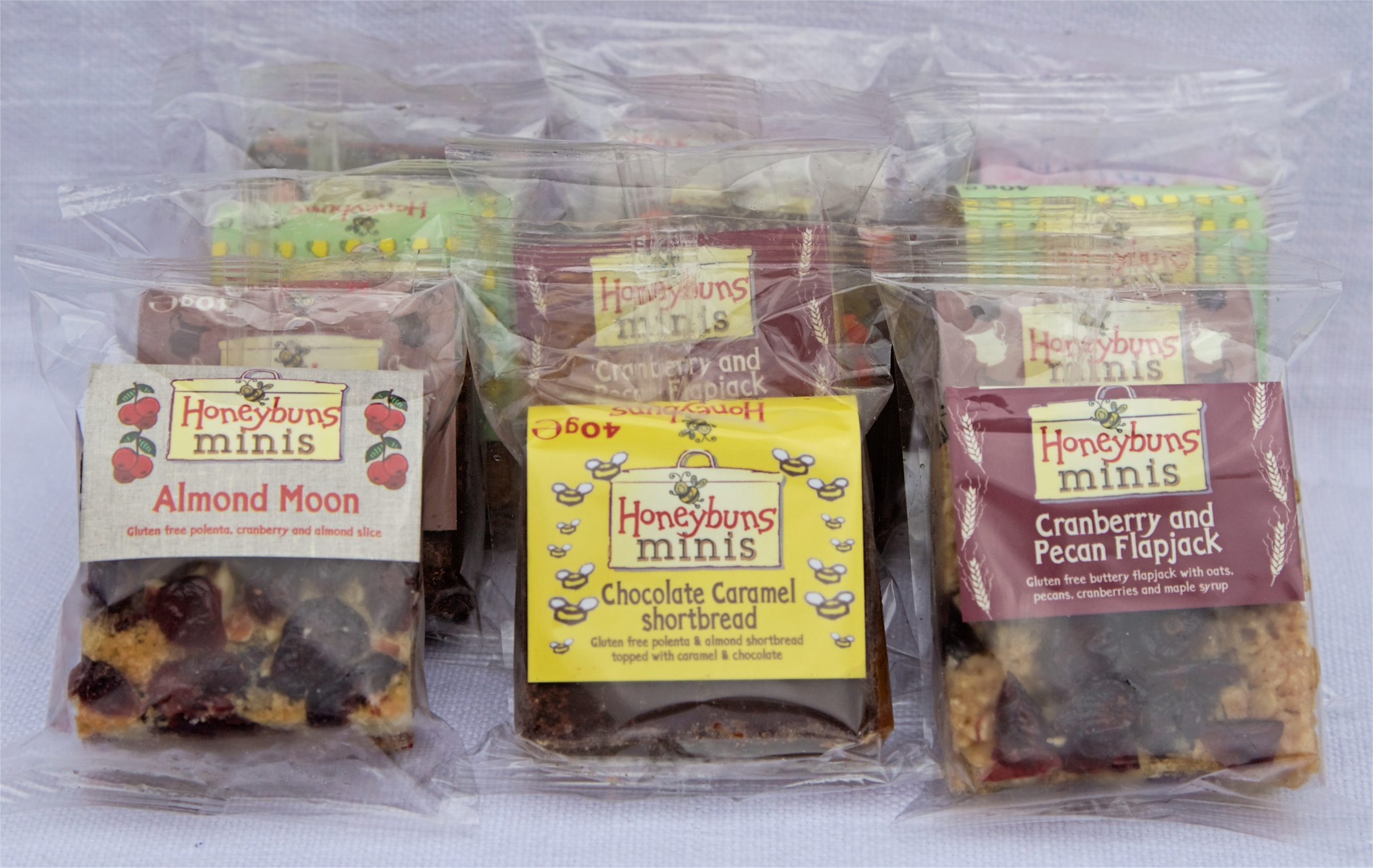 Selection of Honeybuns minis in packaging