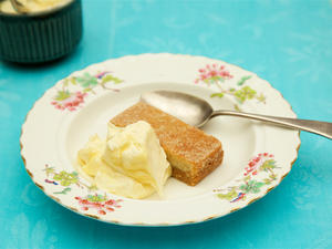 Lemon & ginger shortbread makes a sublime gluten free pud in a hurry.