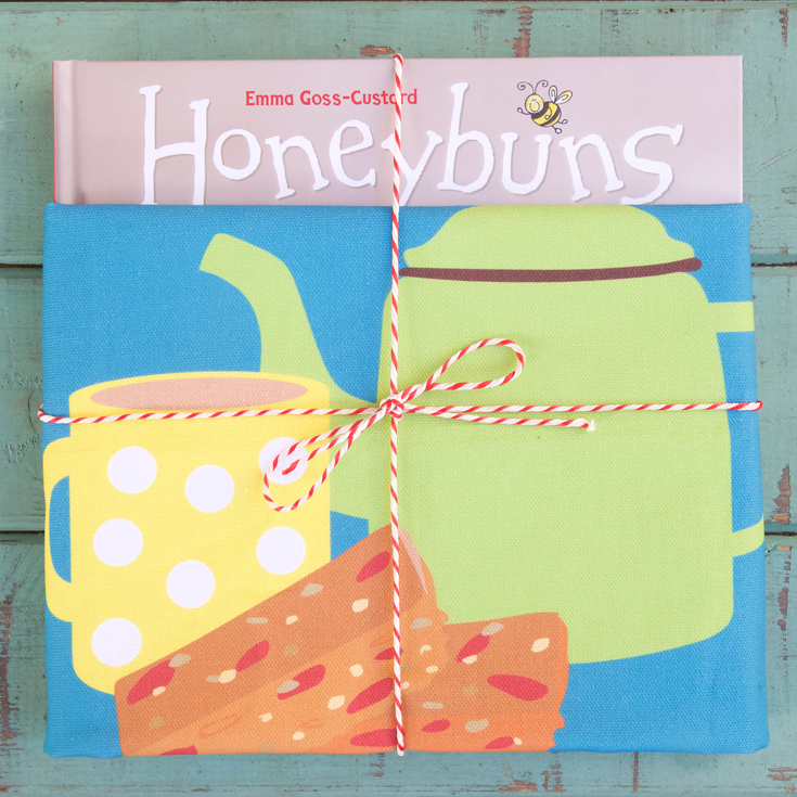 Honeybuns gluten free cookbook and tea towel