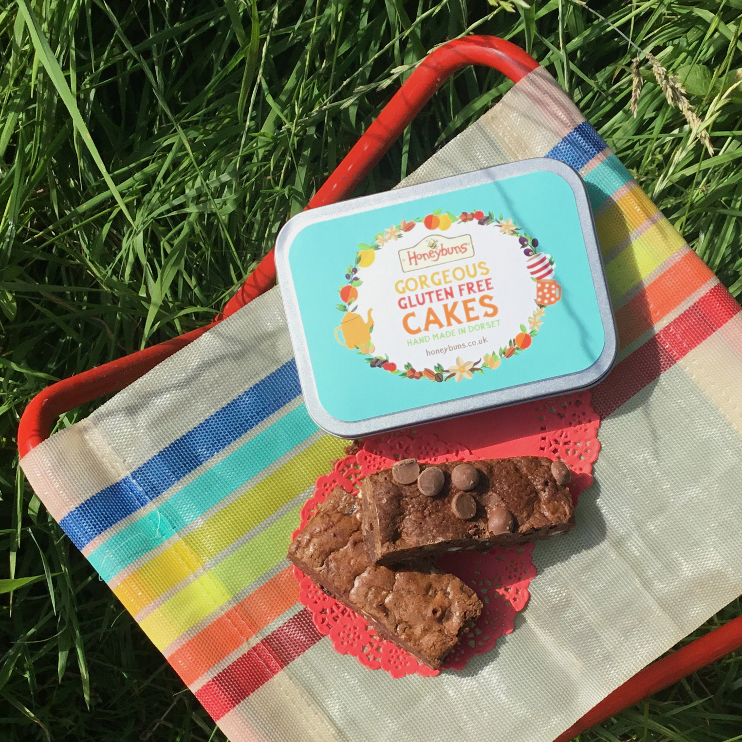 Gluten free brownie gift picnic travel tin