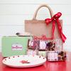 Gluten free cakes, tea plate, tin, gift bag