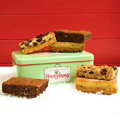 Festive Gift Tin of free from cakes for mail order UK