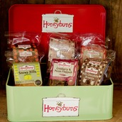 Gift tin with Honeybuns gluten free cakes selection
