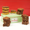Gift Tin with gluten free brownies and caramel shortbreads