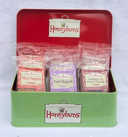Gift Tin with Honeybuns Gluten Free Flapjacks