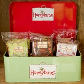 Gift Tin with Honeybuns gluten free fruity cakes