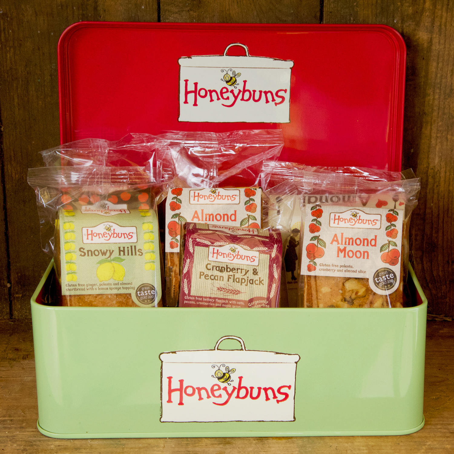 Free from gifts honeybuns honeybuns gift tin with honeybuns award winning gluten free cakes negle Image collections