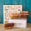 Gluten free All Day Cook Book and cakes with gift tin