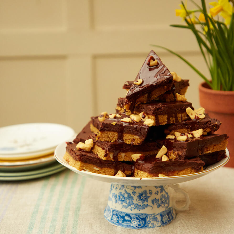 Millionaire's Slice Easter stack a cake
