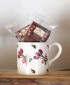 Lavender mug with gluten free cakes
