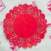 Red doilies