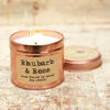 Rhubarb & Rose Vegan candle for Valentine's Day gift